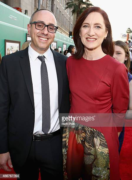 Screenwriter Rob Lieber and producer Lisa Henson attend The World Premiere of Disney's Alexander and the Terrible Horrible No Good Very Bad Day at...