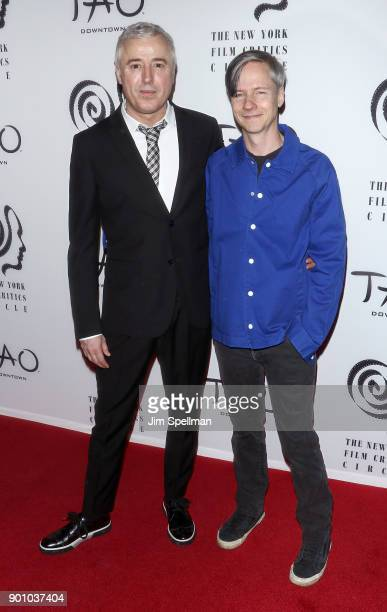 Screenwriter Robin Campillo and actor/director John Cameron Mitchell attend the 2017 New York Film Critics Awards at TAO Downtown on January 3 2018...