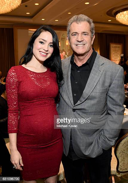 Screenwriter Rosalind Ross and actor/director Mel Gibson attend the 17th annual AFI Awards at Four Seasons Los Angeles at Beverly Hills on January 6...