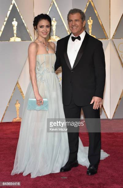 Screenwriter Rosalind Ross and filmmaker Mel Gibson attends the 89th Annual Academy Awards at Hollywood Highland Center on February 26 2017 in...