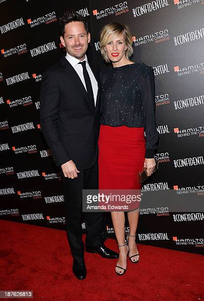 Screenwriter Scott Cooper and his wife Jocelyne Cooper arrive at the 7th Annual Hamilton Behind The Camera Awards at The Wilshire Ebell Theatre on...