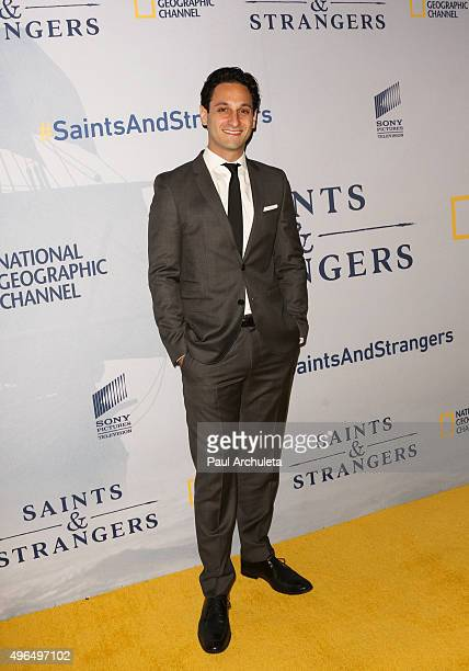 Screenwriter Seth Fisher attends the premiere of National Geographic Channel's 'Saints And Strangers' at the Saban Theatre on November 9 2015 in...