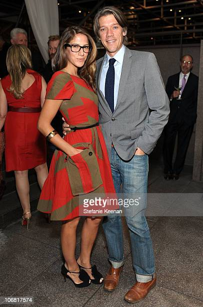 Screenwriter Stephen Gaghan and wife Minnie Mortimer attend The Artist's Museum Happening MOCA Los Angeles Gala sponsored by Chanel Fine Jewelry...