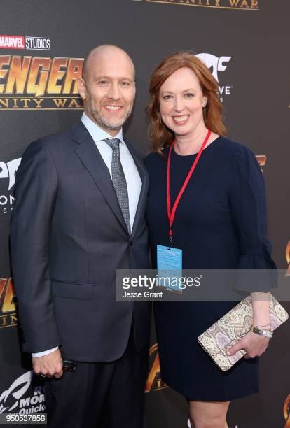 Screenwriter Stephen McFeely and Jennifer Cotteleer attend the Los Angeles Global Premiere for Marvel Studios' Avengers Infinity War on April 23 2018...