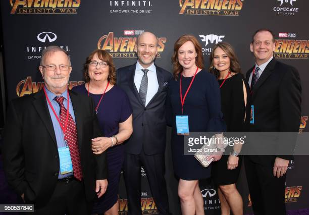 Screenwriter Stephen McFeely Jennifer Cotteleer and guests attend the Los Angeles Global Premiere for Marvel Studios' Avengers Infinity War on April...