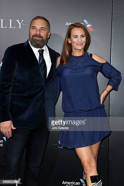 """Screenwriter Todd Komarnicki and Jane Bradbury attends The New York Premiere of Warner Bros. Pictures' and Village Roadshow Pictures' """"Sully"""" at..."""