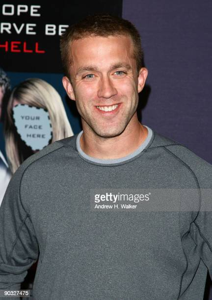 """Screenwriter Tucker Max attends the New York premiere of """"I Hope They Serve Beer in Hell"""" at the AMC Empire 25 on September 3, 2009 in New York City."""