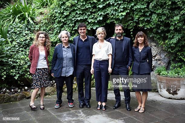 Screenwriter Valia Santella guest Riccardo Scamarcio Marina Fois director Stefano Mordini and screenwriter Francesca Marciano attend a photocall for...