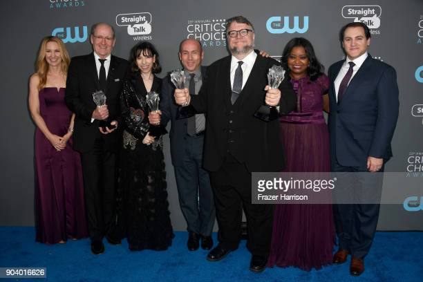 Screenwriter Vanessa Taylor actors Richard Jenkins Sally Hawkins producer J Miles Dale director Guillermo del Toro actors Octavia Spencer and Michael...