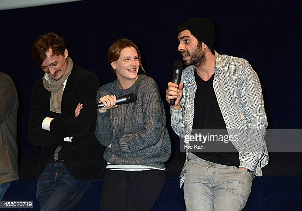 Screenwriter Victor Veyron 'Ivresse' clip comedians Juliette Dol and Sebastien Magne attend the 'Ivresse' Guillaume Canet's Short Movie Against...