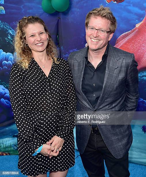 Screenwriter Victoria Strouse and Director/screenwriter Andrew Stanton attend The World Premiere of DisneyPixar's FINDING DORY on Wednesday June 8...