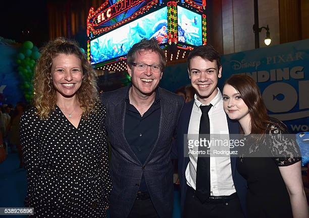 Screenwriter Victoria Strouse Director/screenwriter Andrew Stanton Alexander Gould and Lieba Hall attend The World Premiere of DisneyPixar's FINDING...