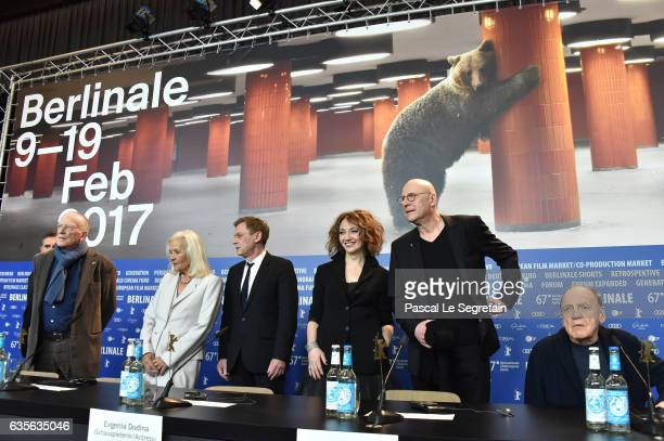 Screenwriter Wolfgang Kohlhaase actress Hildegard Schmahl actor Sylvester Groth actress Evgenia Dodina director Matti Geschonneck and actor Bruno...