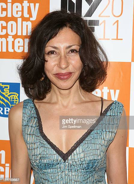 Screenwriter Yasmina Reza attends the 2011 New York Film Festival opening night screening of Carnage at Alice Tully Hall Lincoln Center on September...