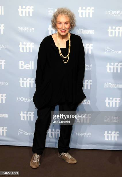 Screenwriter/author/producer Margaret Atwood attends 'Alias Grace' Press Conference during the 2017 Toronto International Film Festival at TIFF Bell...