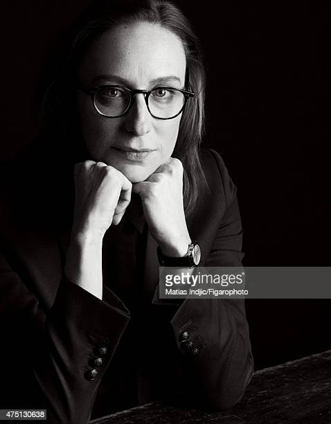 Screenwriter/director Celine Sciamma is photographed for Madame Figaro on January 19 2015 in Paris France Jacket Makeup by Givenchy Le Make Up CREDIT...