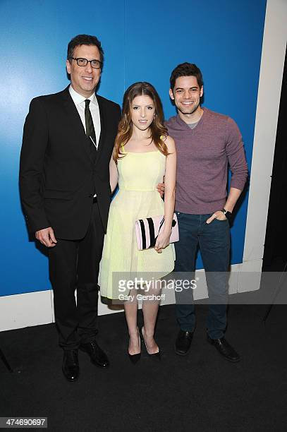 Screenwriter/director Richard LaGravenese Anna Kendrick and Jeremy Jordan attend the The Last Five Years New York Screening at the Walter Reade...