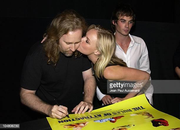 Screenwriter/director Roger Avary Kate Bosworth Ian Somerhalder