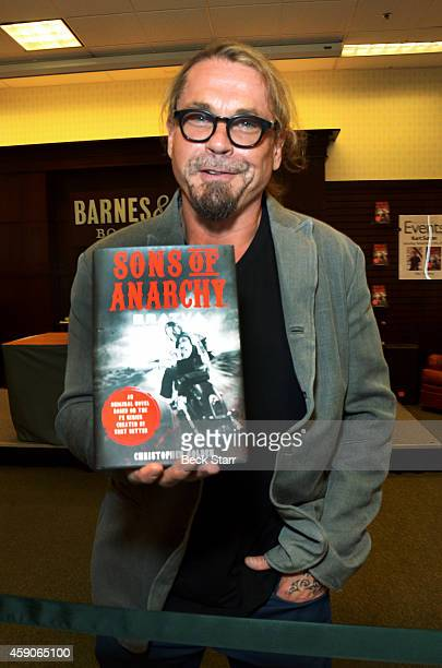 Screenwriter/director/actor Kurt Sutter signs and discusses his new book 'Sons Of Anarchy Bratva' at Barnes Noble bookstore at The Grove on November...