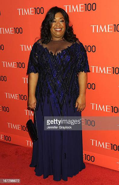 Screenwriter/director/producer Shonda Rhimes attends the 2013 Time 100 Gala at Frederick P Rose Hall Jazz at Lincoln Center on April 23 2013 in New...