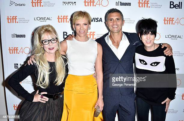 Screenwriter/executive producer Morwenna Banks actress Toni Collette executive producer Christopher Simon and songwriter Diane Warren attend the Miss...