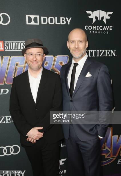 Screenwriters Christopher Markus and Stephen McFeely attend the Los Angeles World Premiere of Marvel Studios' Avengers Endgame at the Los Angeles...
