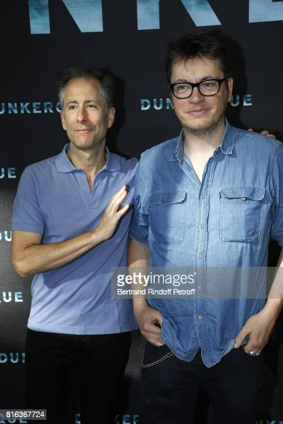 Screenwriters Daniel Presley and Regis Roinsard attend 'Dunkirk' photocall at Cinematheque Francaise on July 17 2017 in Paris France