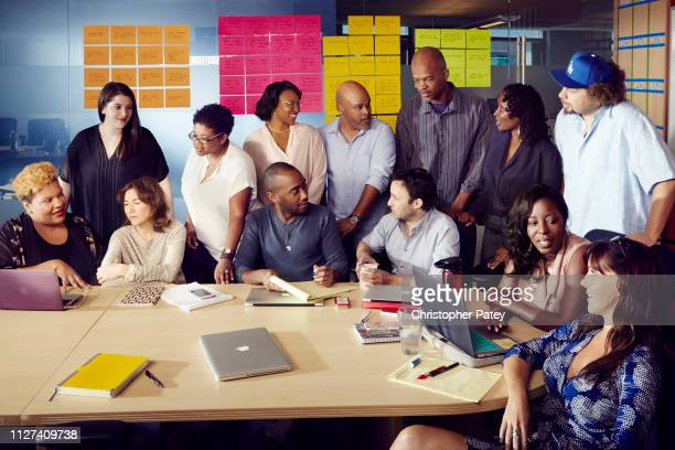 Screenwriters for Fox's hiphop soap opera Empire are photographed for the Hollywood Reporter magazine Radha Blank Jamie Rosengard Ilene Chaiken...