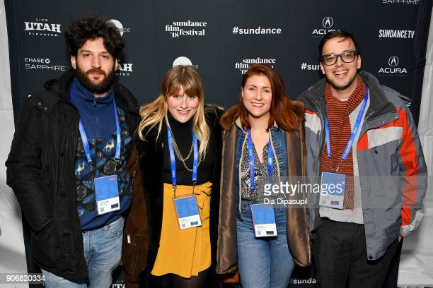 Screenwriters Lab Fellows Christos Massalas Joey Ally Catherine Ally and C Wrenn Ball attend the Filmmakers Welcome Reception during the 2018...