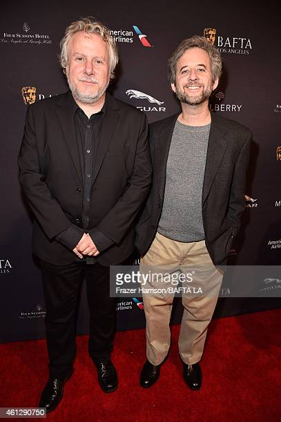 Screenwriters Larry Karaszewski and Scott Alexander attend the BAFTA Los Angeles Tea Party at The Four Seasons Hotel Los Angeles At Beverly Hills on...