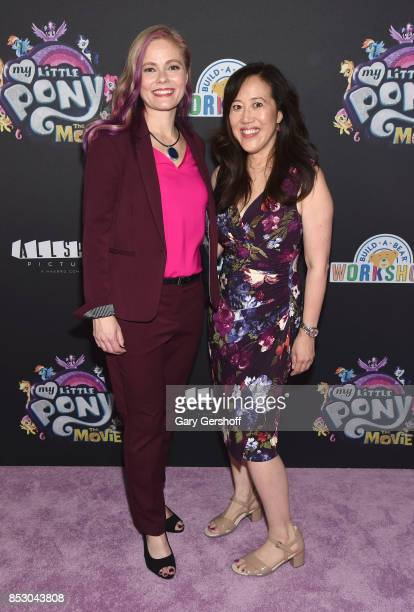 Screenwriters Meghan McCarthy and Rita Hsiao attend 'My Little Pony The Movie' New York screening at AMC Lincoln Square Theater on September 24 2017...