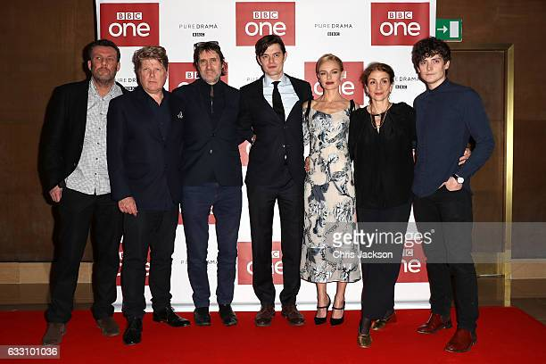 Screenwriters Robert Wade and Neal Purvis actors Sam Riley and Kate Bosworth executive producer Sally Woodward Gentle and actor Aneurin Barnard...