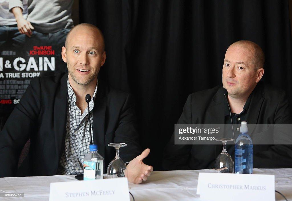 "The Miami Premiere Of ""Pain & Gain"" - Press Conference : News Photo"