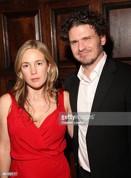 Screenwriters Vendela Vida and Dave Eggers attend the after party for a screening of 'Away We Go' at The Jane Hotel on June 1 2009 in New York New...