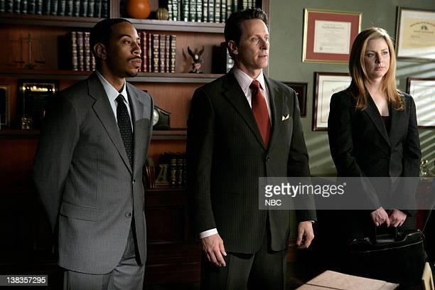 "Screwed"" Episode 22 -- Pictured: Chris ""Ludacris"" Bridges as Darius Parker, Steven Weber as Defense Attorney Matthew Braden, Diane Neal as A.D.A...."