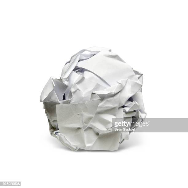 screwed up paper - sports ball stock pictures, royalty-free photos & images