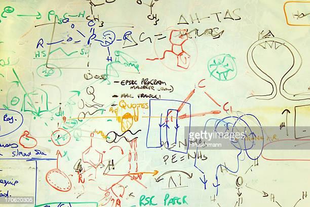 Scribblings on a Chemistry Whiteboard