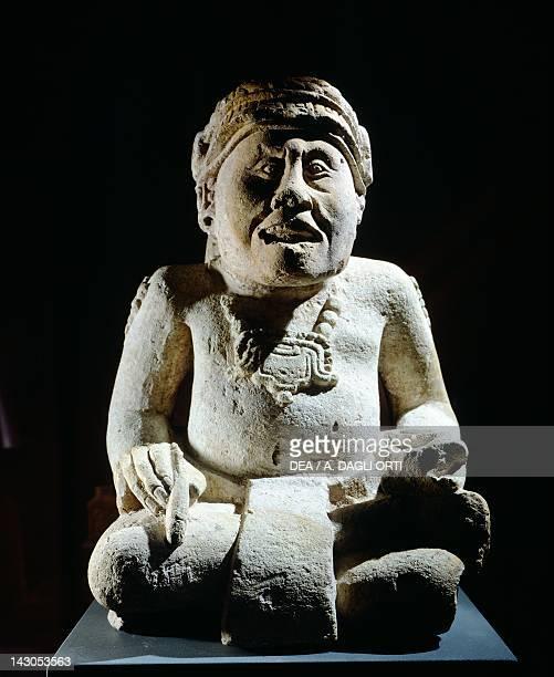 Scribe in volcanic tuff height 57cm width 37cm Artifact originating from Capan Las Sepulturas Mayan Civilization recent Classical period 700800 Copan...