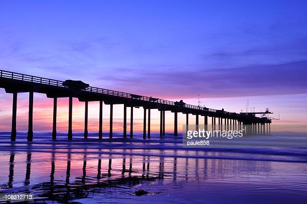 scripps pier - la jolla stock pictures, royalty-free photos & images