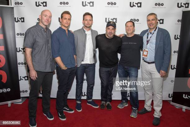 SUITS Script Reading Presented by USA Network Pictured Gene Klein Gabriel Macht Patrick J Adams Rick Hoffman Aaron Korsh and David Bartis