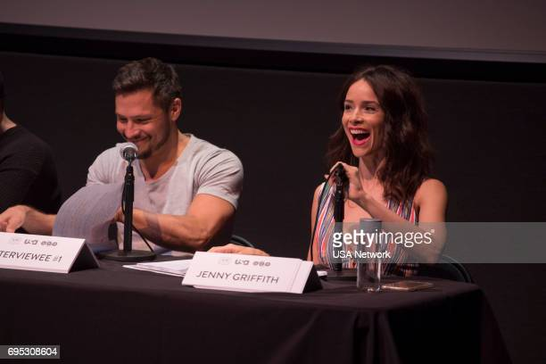 SUITS Script Reading Presented by USA Network Pictured Nick Wechsler and Abigail Spencer