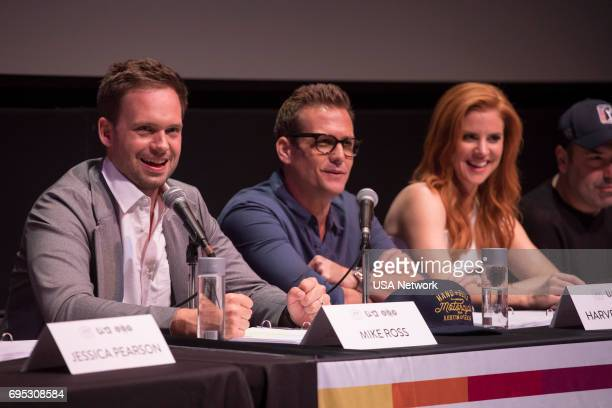 SUITS Script Reading Presented by USA Network Pictured Patrick J Adams Gabriel Macht Sarah Rafferty