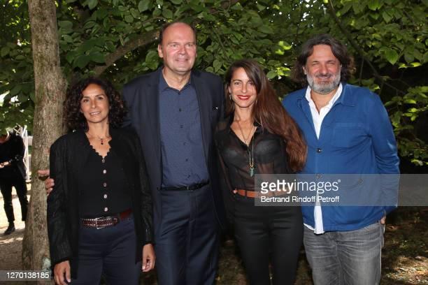 Script writer Murielle Magellan director JeanPierre Ameris actress Audrey Dana and producer Olivier Delbosc attend the Profession du Pere Premiere at...