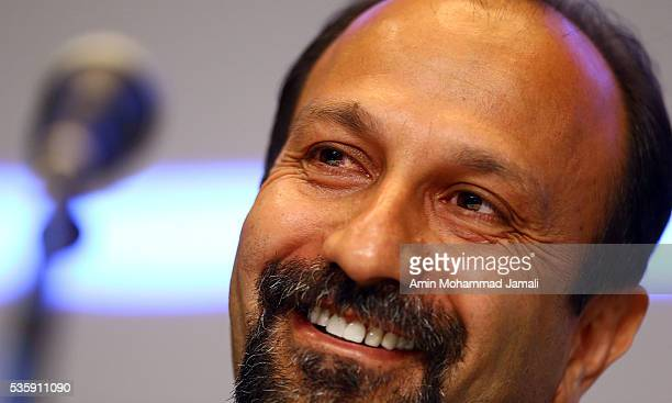 "Scriptwriter Asghar Farhadi, winner of the award for Best Script for the movie ""The Salesman"" during 2016 Canne Film festival, attends the press..."