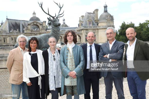 Scriptwriter Henri Helman director of the National Fiction of France Televisions Anne Holmes president of France Television Delphine Ernotte actor...
