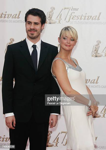 Scriptwriter Simon Astier and actress Virginie Efira attend the opening night of the 2007 Monte Carlo Television Festival held at Grimaldi Forum on...