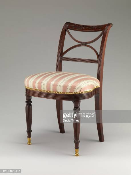 Scroll back side chair, 1810-15, Made in New York, American, Mahogany, 33 x 19 x 21 1/2 in. , Furniture, Attributed to Duncan Phyfe , Attributed to...