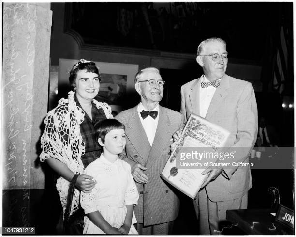 Scroll for work on Property Owners Tax Association of California 29 July 1958 William A Pixley Mrs William Pixley Alice Ann Pixley 7 1/2 years John...