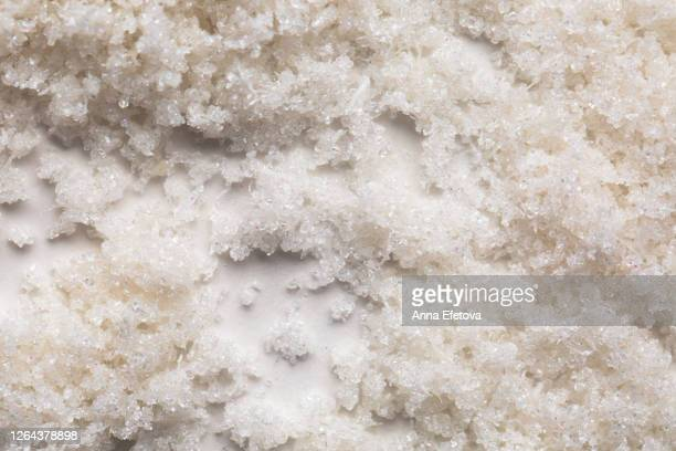 scrub with coconut flakes - exfoliation stock pictures, royalty-free photos & images