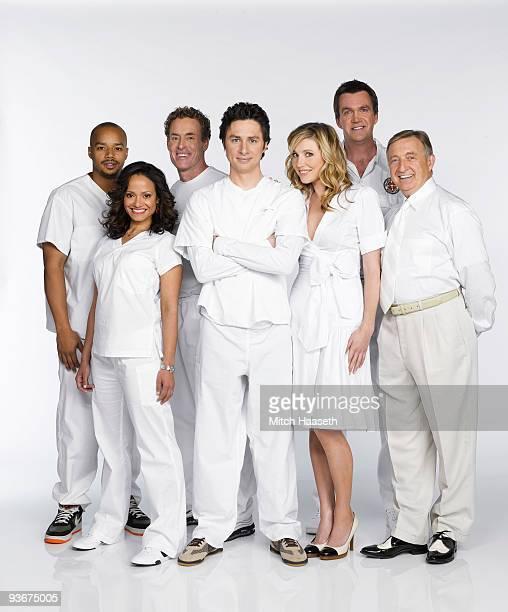"Scrubs"" stars Donald Faison as ""Chris Turk,"" Judy Reyes as ""Nurse Carla Espinosa,"" John C. McGinley as ""Dr. Phil Cox,"" Zach Braff as ""John 'J.D.'..."
